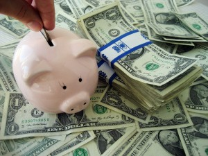 Piggy Bank Save Dollars