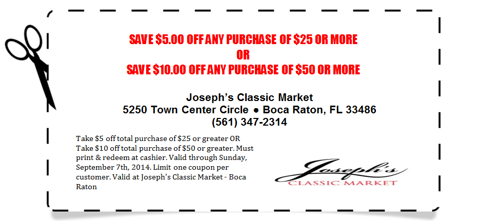 $5 or $10 off coupon JCM - Expires 9.7.2014