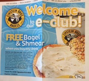 Einstein Bros Bagels - FREE Bagel & Shmear