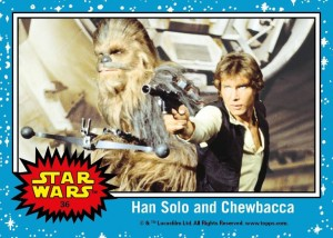 Star Wars Trading Cards Han Solo & Chewbacca