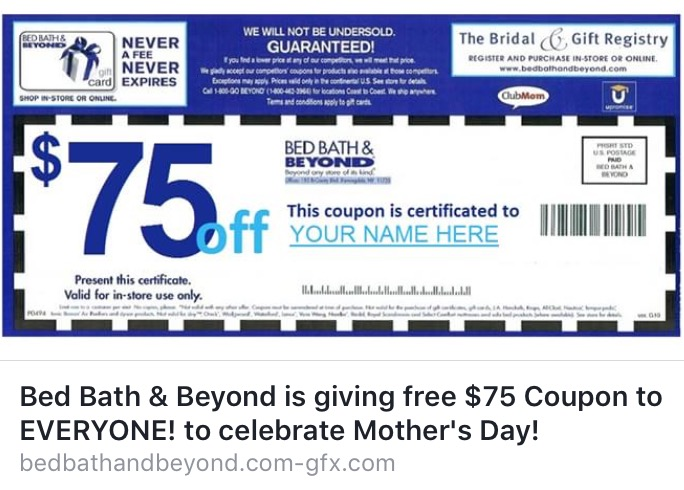 Bed Bath Discount Coupon