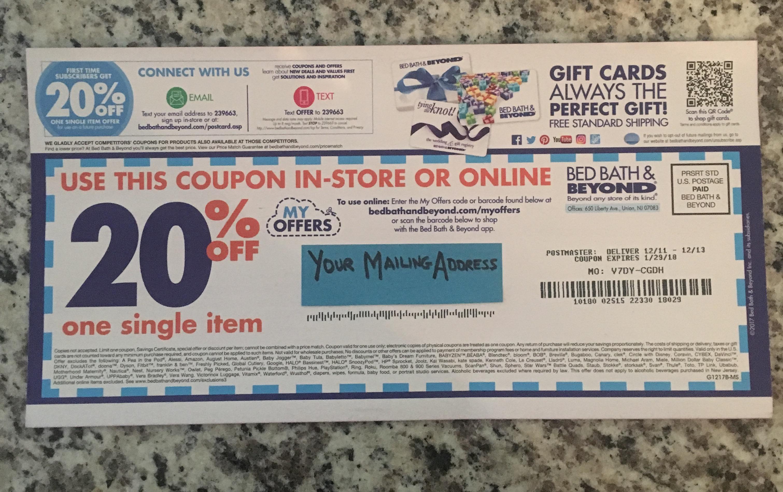 Bath & beyond coupons